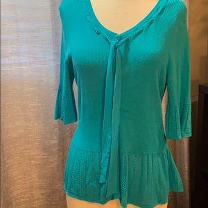 Cute turquoise dressy cardigan